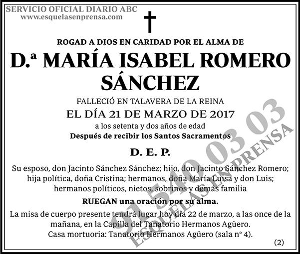 María Isabel Romero Sánchez